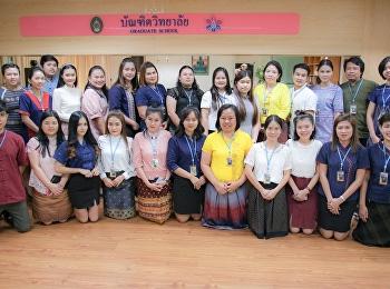 บุคลากรบัณฑิตวิทยาลัยร่วมแต่งกายด้วยผ้าไทยทุกวันพฤหัสบดี