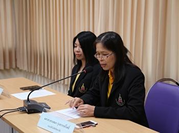 คณบดีบัณฑิตวิทยาลัยเปิดโครงการตรวจประเมินคุณภาพการศึกษาภายใน ระดับหลักสูตร ประจำปีการศึกษา 2561