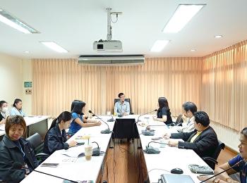 บัณฑิตวิทยาลัยประชุมบุคลากรสายสนับสนุนวิชาการ ครั้งที่ 10/2562