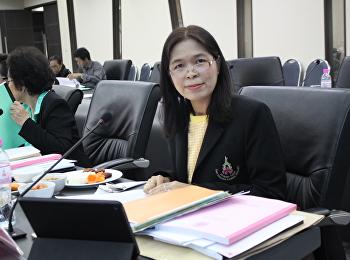 คณบดีบัณฑิตวิทยาลัยเข้าร่วมประชุมสภาวิชาการ ครั้งที่ 1/2563
