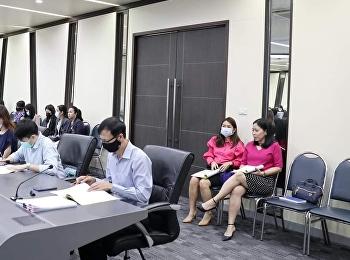 บัณฑิตวิทยาลัยเข้าร่วมประชุมคณะกรรมการพัฒนา/ปรับปรุงกระบวนการปฏิบัติงาน ประจำปีงบประมาณ พ.ศ. 2564 ครั้งที่ 1/2564