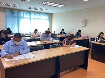บรรยากาศการสอบวัดคุณสมบัติ (Qualified Examination) ของนักศึกษาสาขาวิชาภาษาศาสตร์